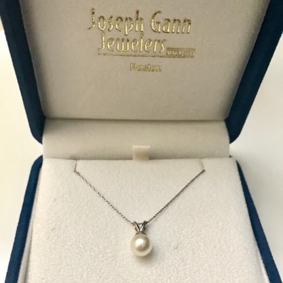 Joseph Gamn Jewelers Jewelry - Joseph Gann Single Pearl Drop Silver Necklace